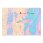 Abstract Businesscards template, turquoise skin Large Business Cards (Pack Of 100)