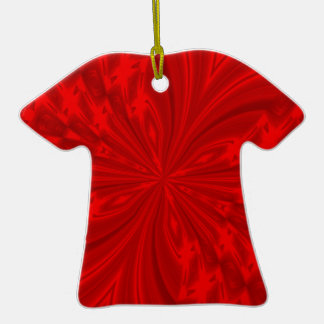 Abstract Buttefly Red Tshirt Ornament