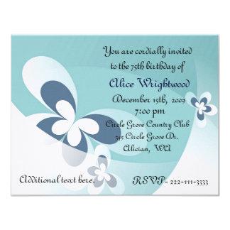 Abstract Butterflies Birthday Invitation