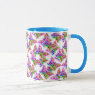 Abstract Butterflies (blue) Mug