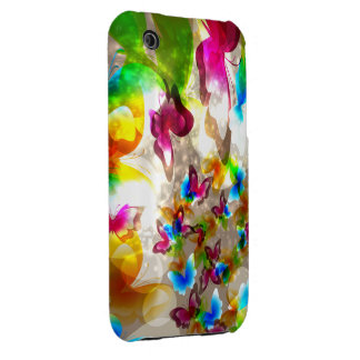 Abstract Butterflies Case-Mate iPhone 3 Case