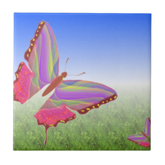 Abstract Butterflies Ceramic Tile