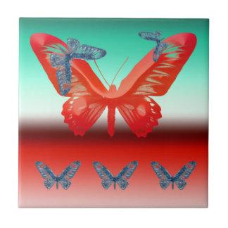 Abstract Butterflies decorative tile