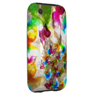 Abstract Butterflies iPhone 3 Tough Cover