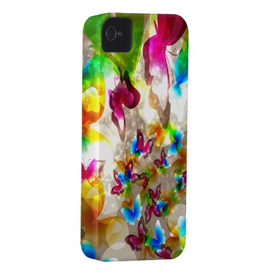 Abstract Butterflies iPhone 4 Case-Mate Case