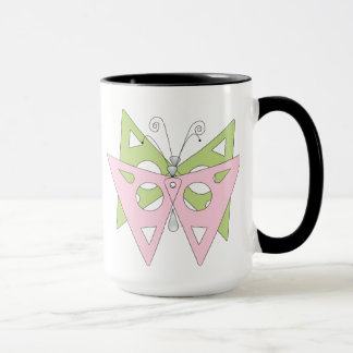 abstract butterflies mug