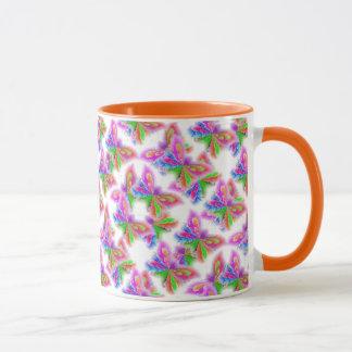 Abstract Butterflies (orange) Mug