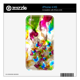 Abstract Butterflies Zazzle Skin Skins For The iPhone 4