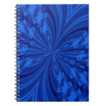 Abstract Butterfly Blue Spiral Note Books