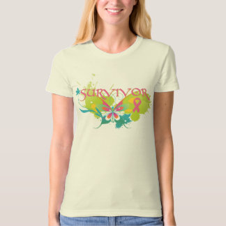 Abstract Butterfly Breast Cancer Survivor Shirt