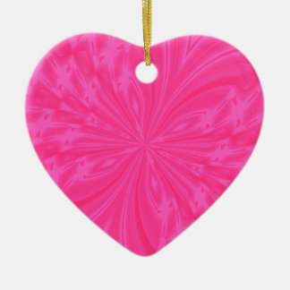 Abstract Butterfly Bright Pink Heart Ornament