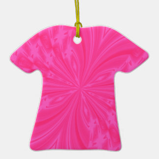 Abstract Butterfly Bright Pink Tshirt Ornament