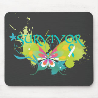 Abstract Butterfly Cervical Cancer Survivor Mouse Pad