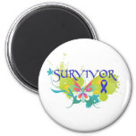 Abstract Butterfly Colon Cancer Survivor Refrigerator Magnets
