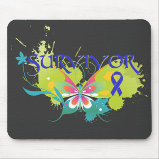 Abstract Butterfly Colon Cancer Survivor Mouse Pad