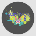 Abstract Butterfly Colon Cancer Survivor Sticker