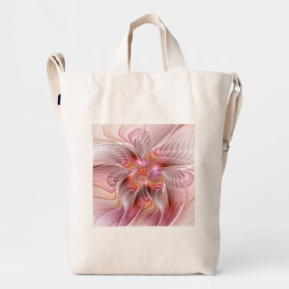 Abstract Butterfly Colorful Fantasy Fractal Art Duck Bag
