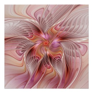 Abstract Butterfly Colorful Fantasy Fractal Art Poster