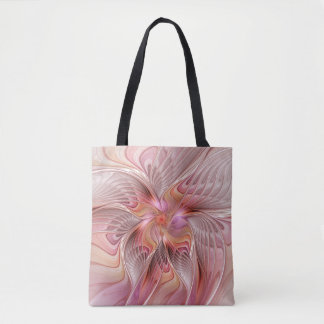 Abstract Butterfly Colorful Fantasy Fractal Art Tote Bag