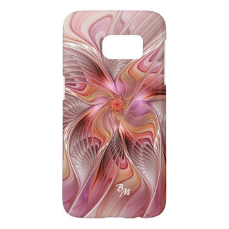 Abstract Butterfly Colorful Fractal Art Monogram Samsung Galaxy S7 Case