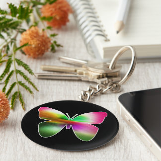 Abstract Butterfly Colorful Keychain