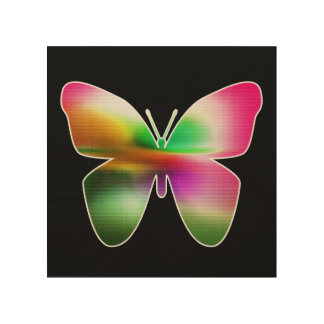 Abstract Butterfly Colorful Wood Wall Art