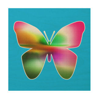 Abstract Butterfly Colorful Wood Wall Decor