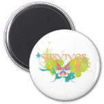 Abstract Butterfly Endometrial Cancer Survivor Fridge Magnets