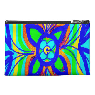Abstract Butterfly Flower Kids Doodle Teal Lime Travel Accessories Bag