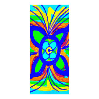 Abstract Butterfly Flower Kids Doodle Teal Lime Announcement