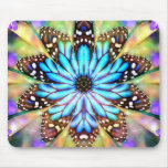 Abstract Butterfly Flower Mouse Pad