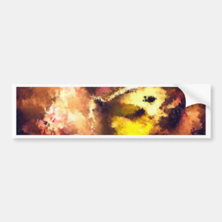 abstract  butterfly insect flowers, bumper sticker