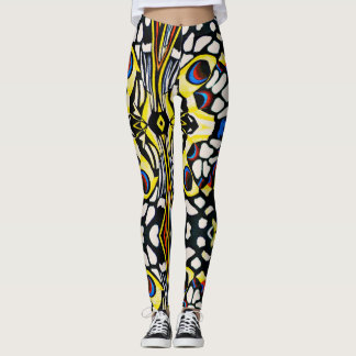 Abstract Butterfly Leggings