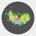 Abstract Butterfly Lymphoma Survivor Sticker