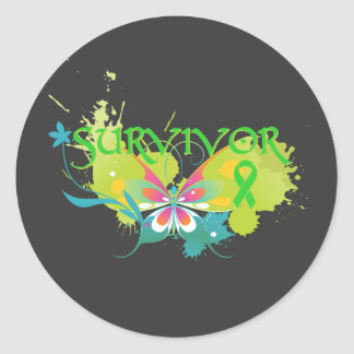 Abstract Butterfly Lymphoma Survivor Sticker