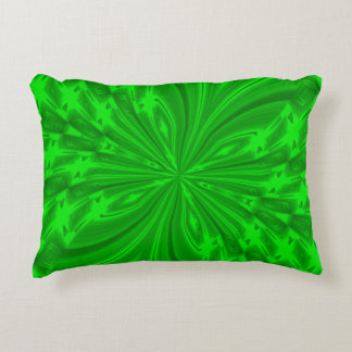 Abstract Butterfly Neon Green Accent Pillow