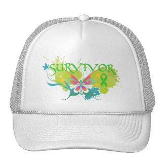 Abstract Butterfly Non-Hodgkin's Lymphoma Survivor Trucker Hat