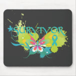 Abstract Butterfly Ovarian Cancer Survivor Mousepad