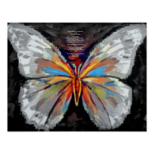 Abstract Butterfly Painting - Art Prints Print