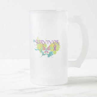 Abstract Butterfly Pancreatic Cancer Survivor Mugs