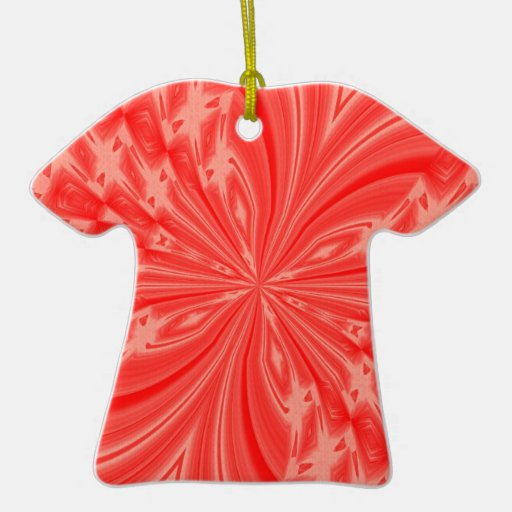 Abstract Butterfly Peach Double-Sided T-Shirt Ceramic Christmas Ornament