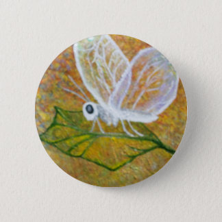 Abstract Butterfly Pinback Button