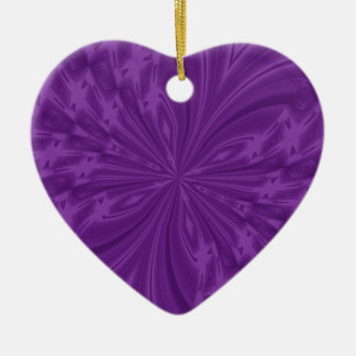 Abstract Butterfly Purple Heart Ornament