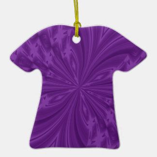 Abstract Butterfly Purple Tshirt Ornament