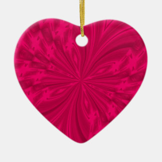Abstract Butterfly Raspberry Pink Heart Ornament