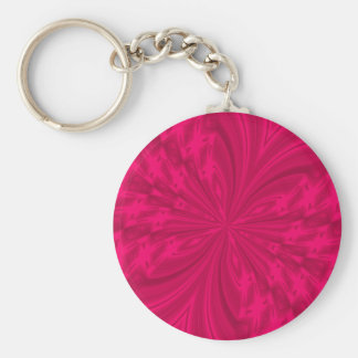 Abstract Butterfly Raspberry Pink Keychain