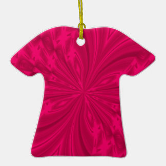Abstract Butterfly Raspberry Pink Tshirt Ornament