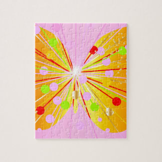 Abstract Butterfly Silhouette Jigsaw Puzzle