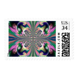 Abstract Butterfly Stamp