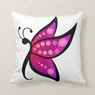 Abstract Butterfly Throw Pillow